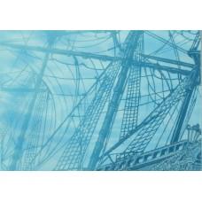 Лазурь декор корабль 4 бирюзовый