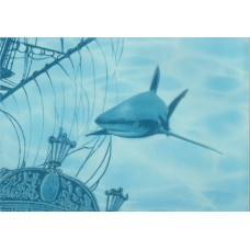 Лазурь декор корабль 5 бирюзовый