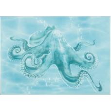Лазурь декор осьминог бирюзовый