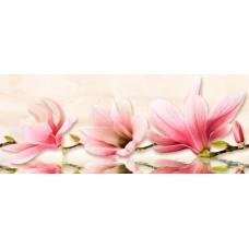 Декор Мираж серо-розовый