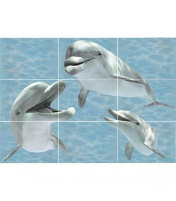 Лазурь панно Дельфины