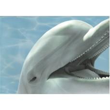 Лазурь декор дельфины 3 бирюзовый
