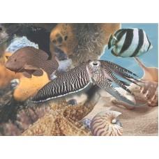 Лазурь панно морской мир 10 бирюзовый