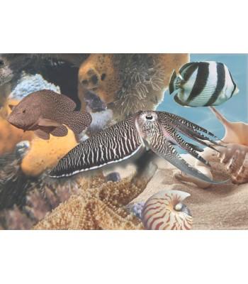 Плитка Лазурь панно Морской мир