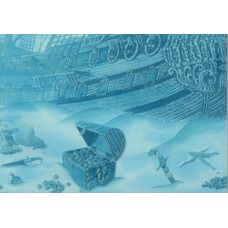 Лазурь декор корабль 7 бирюзовый