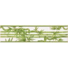Ретро бордюр бамбук салатовый